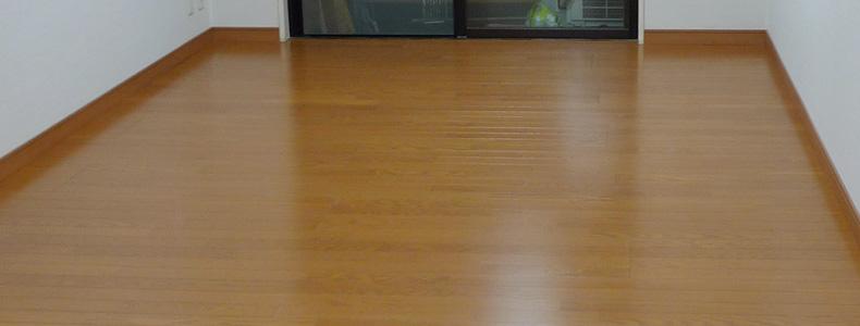 リビングの床張替